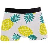 ALARGE - Boxer da uomo estivo con ananas tropicale, biancheria intima morbida elasticizzata, per uomo e ragazzo, S-XL