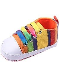 V-SOL Zapato Zapatilla Shoe a Rayas Multicolor bebé Primero Paso