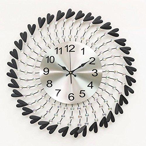 ZLR Mute De Mode Salon Horloge Murale Mute Creative Diamant Art Déco Pendaison Horloge Personnalisée Horloge Mute Horloge À Quartz ( Couleur : Noir )