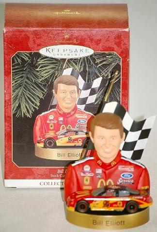 1999 - Hallmark / Bill Elliott Keepsake Ornament - NASCAR - Stock Car Champions Collector