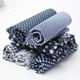 leisial 7pz tela algodón tejidos Estampado Algodón para coser tela a Metro tela para patchwork oscuro Manual...