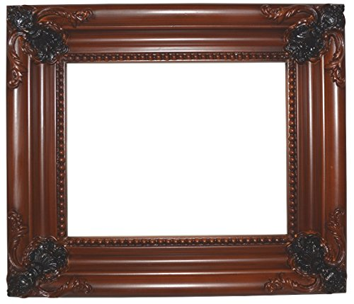 Jess Frames 7601W Walnuss Barock Style 8x 10Holz Rahmen, 21/5,1cm breit -