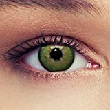 """Lentillas de color verde natural para los ojos oscuros de tres meses sin dioprtías / corregir + gratis caso de lente 'Dimension Green"""""""