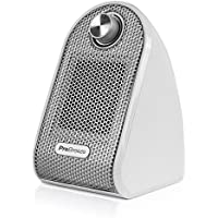 Pro Breeze Mini Heater - Ceramic Fan Heater perfect for Desks and Tables - Personal PTC Heater, White