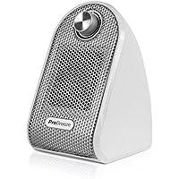 Pro Breeze® Mini Termoventilatore Compatto da Tavolo e Scrivania - Riscaldatore PTC in Ceramica, Bianco