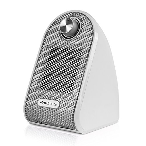 51DxG ZWvRL. SS500  - Pro Breeze® Mini Heater - Ceramic Fan Heater perfect for Desks and Tables - Personal PTC Heater, White