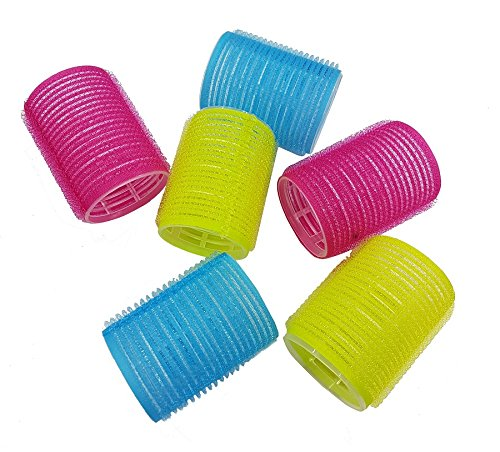 FULLY Multicolour Hair Roller (Set Of 6) Medium Size For Women And Girls