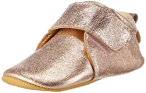 MOVE Prewalker Hausschuhe Mit Rutschfester Sohle, Chaussons courts, non doublées fille Or - Gold (Cobber Glitter915)