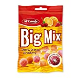 20 Beutel M'Candy Big Mix Bonbons mit Kirsch Orange Erdbeer a 150g Mc Candy