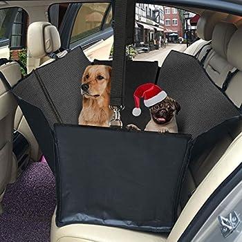topist voiture couverture pour chien, imperméable Oxford Chiffon Tapis de protection coffre de voiture pour chien avec protection latérale, couverture voiture pour chien peut être comme Hamac suspendue, protège vos des rayures, la saleté, les poils d'animaux?63* 55inch, noir