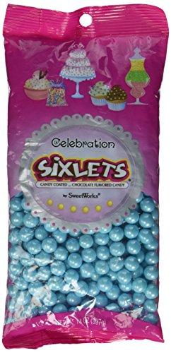 sweetworks Célébrations Six permet (R) 14ml Shimmer (TM) Poudre Acrylique, bleu, multicolore, set de 4pièces
