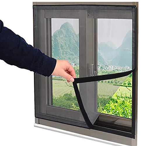 Lichll Magnetic Fliegengitter Magnet-Rahmen, Insektenschutz Fenster,Insektenschutz Spannrahmen Fliegengitter Alurahmen für Fenster,180x130cm(71x51inch)