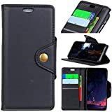 LG Q7 Leather Wallet Case with Leather Case, Meroollc LG Q7 Flip Cover, Leather Case, Pouch Case (Black)