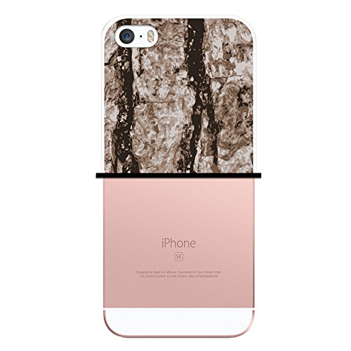 iPhone SE iPhone 5 5S Hülle, WoowCase Handyhülle Silikon für [ iPhone SE iPhone 5 5S ] Holzwand Handytasche Handy Cover Case Schutzhülle Flexible TPU - Transparent Housse Gel iPhone SE iPhone 5 5S Transparent D0211