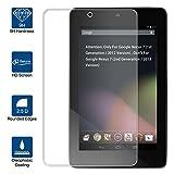 Beiuns Film Protection d'écran en Verre trempé Ultra Dur Protecteur d'écran pour ASUS Google Nexus 7 (Ecran: 7 Pouces 1ère génération, 2012 Version)(Non Compatible avec 2ème génération, Version 2013)
