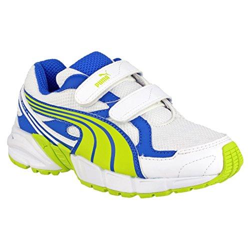 Puma Axis Mesh V2 Jungen Turnschuhe / Sneakers mit Klettverschluss Limette/Blau