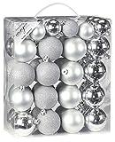 Inge-glas 770202-MO Kunststoff-Kugelbox 50 teilig, 18 x 4 und 32 x 6 cm, Silber