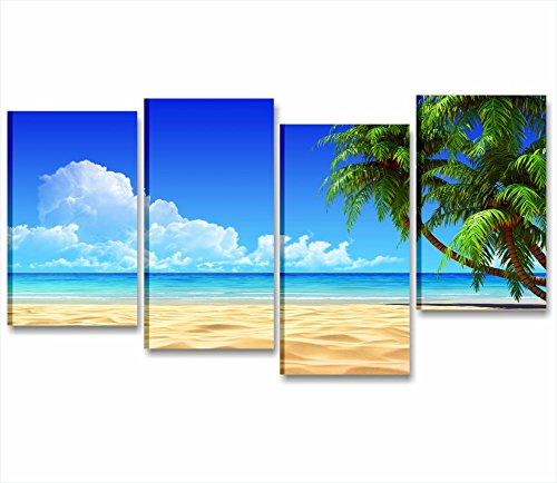 Palme beach - Quadro moderno XXL su tela intelaiato paesaggio