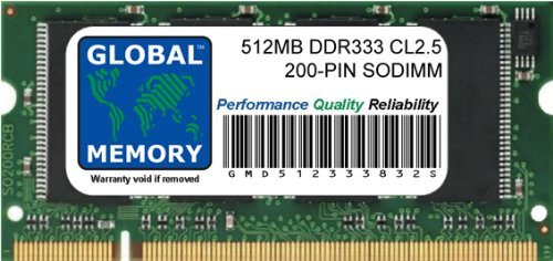 GLOBAL MEMORY 512 MB DDR 333 MHz PC2700 200-PIN SODIMM ARBEITSSPEICHER FÜR IMAC G4 DDR Flat Panel -