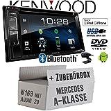Mercedes A-Klasse W169 Audio 20 - Autoradio Radio Kenwood DDX318BT - 2DIN Bluetooth   DVD   USB   CD   MP3 - Einbauzubehör - Einbause