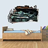 GNG X Wing of Star Wars Storm Smashed Wall Decal Poster 3D Art Sticker Vinyl Room L