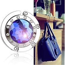 Bingsale® Taschenhalter Dunkel Blau Crystal (klar) mit magnetischer Gliederhalterung - Taschenhaken & Handtaschenhalter als perfekte Geschenkidee für Frau, Freundin, Mutter und Tochter