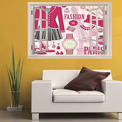 Leoljc Kosmetik 3D Gefälschte Fenster Landschaft Wandaufkleber Schlafzimmer Kinderzimmer Büro Diy Abnehmbare (50X70 Cm)