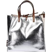 bfd10bb3bd MANILA GRACE Borsa Felicia Bag Media Argento Metallizato