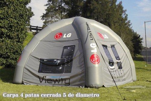 Tucuman Aventura - Carpas hinchables 4 patas cerrada