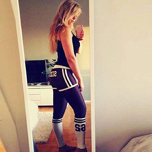 Leggings de Yoga Pour Dames,Sisit Femmes Taille Haute Yoga Fitness Leggings en cours d'exécution Gym Stretch Sports Pantalon Pantalon Noir