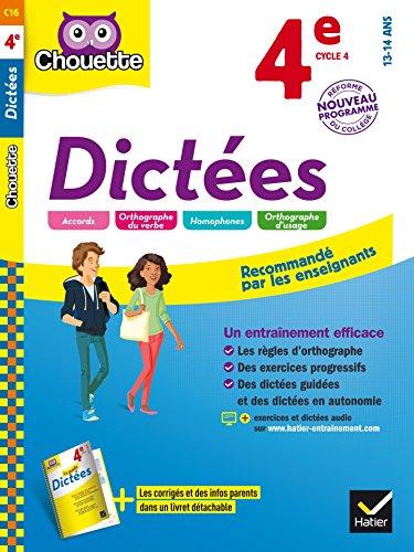 Dictes 4e: cahier d'entranement en orthographe