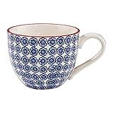 BUTLERS Retro Tasse 550ml - Gelbe Kaffeetasse Vintage Design - Hochwertige Porzellantasse, Kaffeebecher, bunte Teetasse