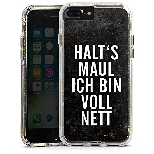 Apple iPhone 6 Bumper Hülle Bumper Case Glitzer Hülle Phrases Sprüche Sayings Bumper Case Glitzer gold