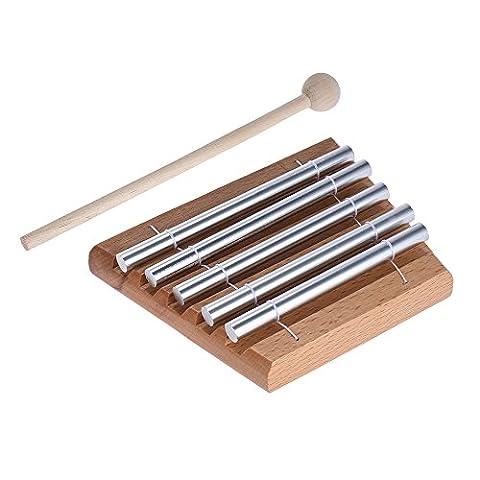 ammoon Enfants Toddler 5-Tone Tabletop Chimes Jouet éducatif Musical Instrument à Percussion avec Mallet