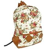 homeking Women's Vintage Flower Canvas Backpack