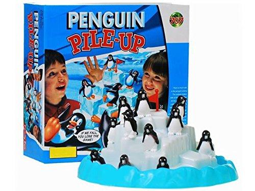PREMIUM Pinguin Rennen - Geschicklichkeitsspiel Partyspiel Penguin Pile Up Spiel mit hohem Spaßfaktor wie Plitsch Platsch Kroko Doc (Baby Kitty Katze Halloween Kostüm)