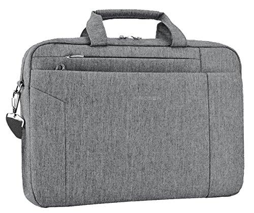KROSER Laptoptasche 15,6 Zoll Notebooktasche Aktentasche Schulter Umhängetasche Wasserabweisend Satchel Tablet Bussiness Tragetasche Laptoptasche für Frauen und Männer-Grau