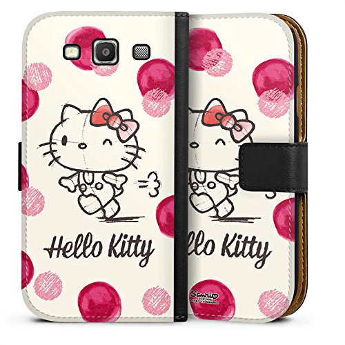 DeinDesign Tasche kompatibel mit Samsung Galaxy S3 Leder Flip Case Ledertasche Hello Kitty Fanartikel Merchandise Fan Article Merchandise