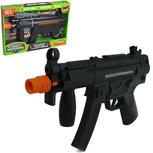 Preisvergleich Produktbild Jungen Armee Solider Spielzeug klein AK Gewehr Pistole mit Tactical Scope Lichtern und Vibrationen–Schwarz