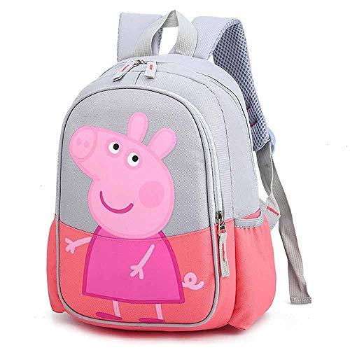 ERHU-ChildrenBackpack Peppa Pig- George Rucksack , Kinder Jungen Mädchen Schulrucksack Wasserfester Cartoon-Rucksack