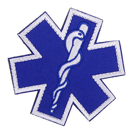 Baoblaze Star of Life Rettung Rettungsdienst Abzeichen Aufnäher Patch Emblem