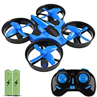 JoyGeek Mini Drone for Kids, RC Quadcopter with 2.4G 4CH 6 Axis Headless Mode, 360° UFO Mini Quadcopter Drone, Flips & Rolls Remote Control One Key Return Helicopter ( Blue ) from Joygeek