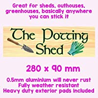THE POTTING SHED, GARDENING SIGN FLOWERS POTS TOOLS
