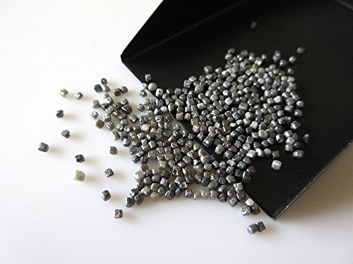 5 cts Poids/Tiny 1–2 mm phosphate sans trous Gris naturel Noir diamant brut Boîte Perles/Courroie de premiers Noir non coupée Diamant Cubes – Dds277/2