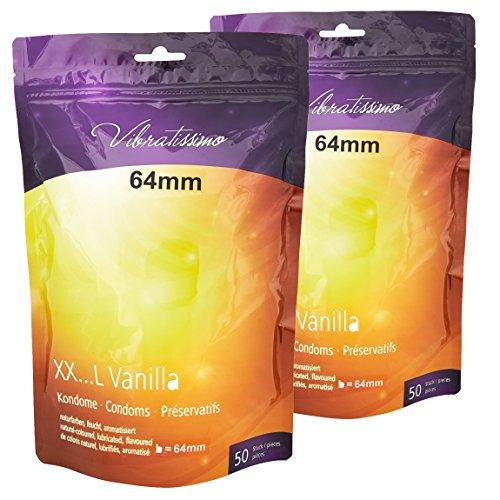 """Sonderangebot! AMOR Vibratissimo \""""Meine Größe 64mm\"""", 100er Pack Premium Kondome, gefühlsecht und genau maßgeschneidert auf die individuelle Größe des Geschlechts angepasst"""