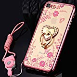 Coque iPhone 5S,Coque iPhone SE,Coque iPhone 5,[Support d'amour] Bling Brillant...