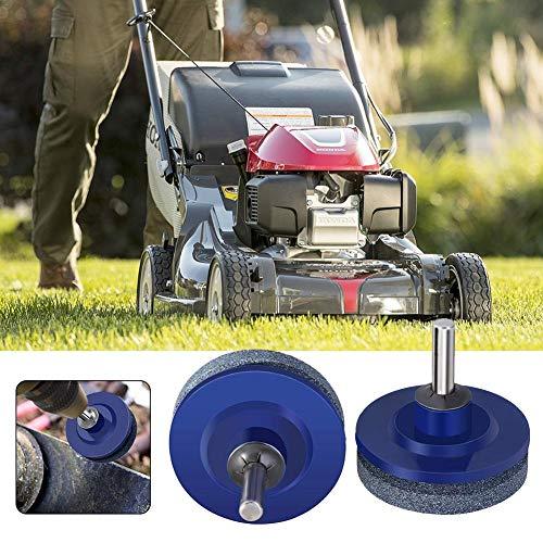 RecoverLOVE Lawn Mower Sharpener Blade Rotary Garden Tool Sharpener for Power Drill Hand Drill Blue 1/2/4 PCS Different Combination Blade Sharpener