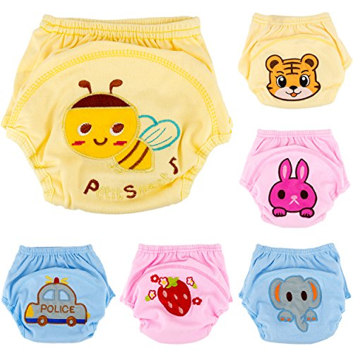 Ateid 6er-Pack Baby Trainerhosen Töpfchentraining Unterhosen zum Trocken Werden 86/92