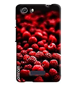 Omnam Red Cheeries Bunch Printed Designer Back Cover Case For Micromax Unite 3