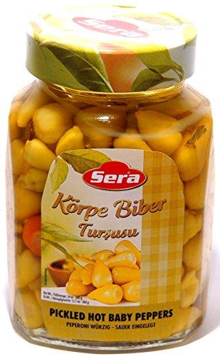 Sera - Eingelegte scharfe mini Pepperoni - Pfefferoni - Biberiye (680g)